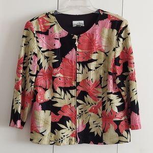 Joseph Ribkoff Tropical Floral Blazer Size 16 EUC